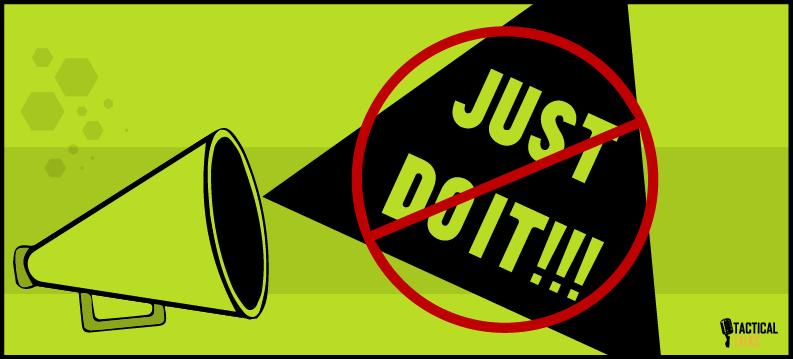 public speaking - tactical talks - just do it