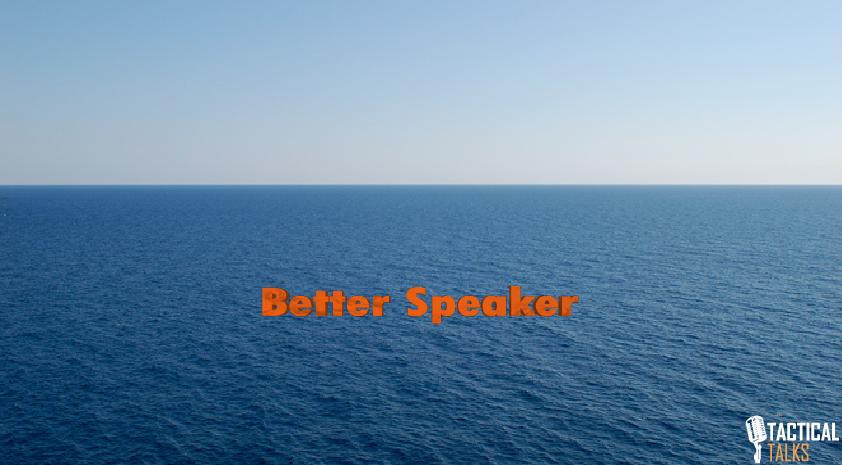 goal tactical talks public speaking matt kramer drift away at sea