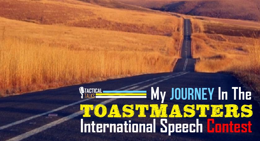 toastmasters public speaking tactical talks speech contest journey matt kramer