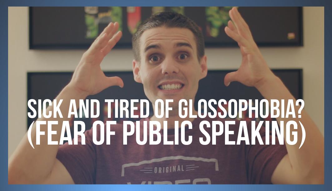 overcome fear of public speaking glossophobia tactical talks matt kramer