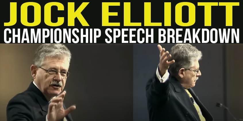 jock elliott 2011 speech breakdown tactical talks public speaking toastmasters